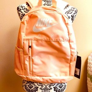 NWT Nike Light pink and white backpack